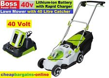 CORDLESS LAWN MOWER WITH CATCHER PUSH MOWER 40V LITHIUM-ION BATTERY & CHARGER