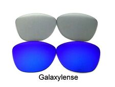 Galaxy Replacement Lenses For Oakley Frogskins Blue&Clear Grey Polarized 2 Pair