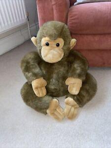 Plush Medium Brown Gorilla Monkey Chimpanzee Kids Children's Cuddly Toy Present