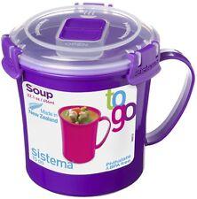 Sistema ad andare MICROONDE privo di BPA Soup TAZZA CIBO CONTENITORE stoccaggio CUP - 656 ml