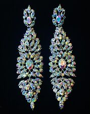 EARRING using Swarovski Crystal Dangle Drop Wedding Bridal Fancy AB SW24