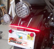 Yamaha Bolt LED Fender Eliminator Turn Signal Light Bar & Tag Mount - Smoke Lens