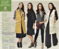 Loose Sleeveless COAT or JACKET Beginners Prima Sewing Pattern 10 12 14 16 18 20