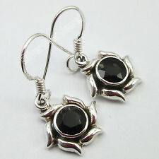 Onyx Handcrafted Earrings Jewelry 2.9 Cm 925 Pure Silver Hot Selling Cut Black