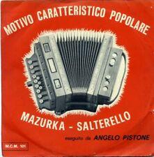 """ANGELO PISTONE """" MAZURCA * SALTARELLO """" MAPE RECORD 45 Giri"""