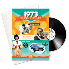 45th Birthday or Anniversary Gift -1973 4-In-1 Card,Book,CD and Download