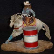 Barrel Racer CowGirl Statue Western Americana Rodeo