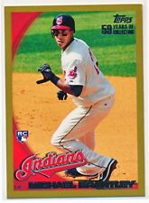 MICHAEL BRANTLEY 2010 TOPPS SERIES 1 GOLD PARALLEL RC #'D 0510/2010 #270 INDIANS