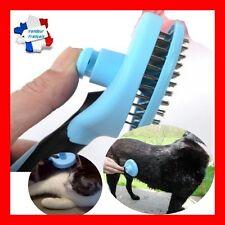 Peigne brosse râteau chiens et chats avec POUSSOIR REMONTE POILS