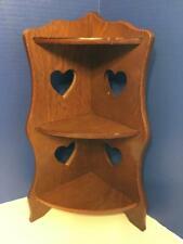 """Vintage/Antique Solid Wood Corner Shelf 16-1/2"""" Tall"""