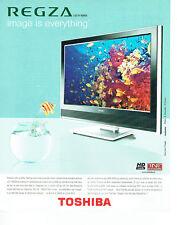 Publicité Advertising 127  2006  Toshiba  téléviseur TNT écran plat Regza HD