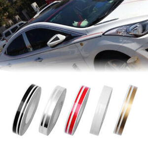 1 Roll Vinyl Pinstriping Pin Stripe Double Line Tape Car Body Decal Sticker 12mm
