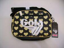 GOLA BORSA PICCOLA MINI REDFORD GLITTER HEART CUC127 BLACK GOLD CUORI