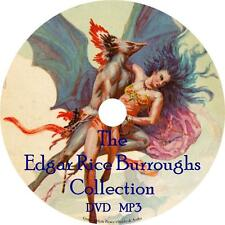 Edgar Rice Burroughs Audio Book Collection Unabridged Sci-Fiction on 2 MP3 DVDs