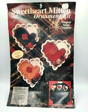 Wimpole Street Creations Sweetheart Mitten Ornament Kit Materials For 3 Mittens