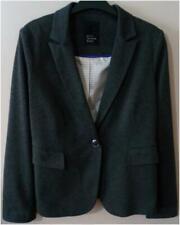 New Womens Betty Jackson Black Lined Grey Jacket Size 12