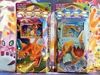 Pokemon Vivid Voltage Theme Deck CHARIZARD & DREDNAW - Set of 2 - SHIPS FAST