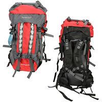 80L Pro Waterproof Backpack Shoulders Bag 600D Camping Hiking Internal Frame New