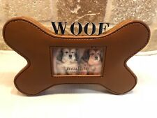 "Mudpie Dogbone Picture Frame NEW!..10x7"" Holds 2x3"" Picure"