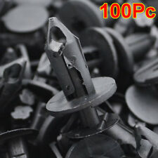 100pc Fit 8mm Hole Car Body Plastic Rivets Fastener Fender Bumper Push Pin Clips