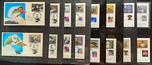 USA #RW58-#RW83 FDCs (26) Ducks, DP Dube Limited Handpainted