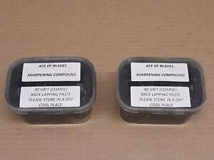 2x 80 GRIT (500 ML) Backlapping Compound Paste Scott Bonnar Reel Cylinder Mower
