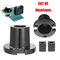 Black CAT40 Billet Aluminum Tool Holder Tightening Vise Mounting Fixture Set