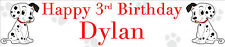 DALMATIAN PERSONALISED BIRTHDAY BANNERS PACK OF TWO