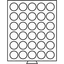 Leuchtturm Münzbox 30 runde Fächer mit 39 mm Ø, rauchfarben