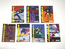 1994 MAXIMUM CARNAGE Spiderman ACCLAIM 7 PROMO CARD SET! MARVEL! VENOM! SEGA!!