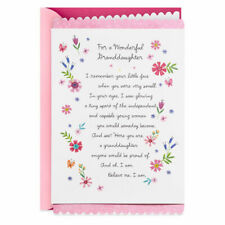 Hallmark Greetings Card-Happy Birthday-Beautiful for that special Granddaughter