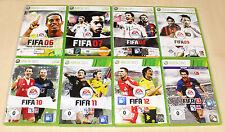 8 XBOX 360 SPIELE SAMMLUNG FIFA 06 07 08 09 10 11 12 13 FUSSBALL FOOTBALL SOCCER