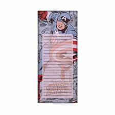 Silver Buffalo Ml0553 Marvel Captain America Magnetic Stationery to Do List Note
