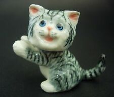Playful Ceramic CAT KITTEN Curio Display Ornament Porcelain Animal Pottery Gift