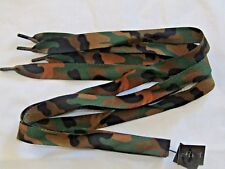 """Camo Camoflage Army Flat Shoe Boot Laces 20mm 45"""" 115cm H5"""