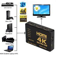 Ultra HD 4K x 2K HDMI Switch 5x1 5 Port Switcher Selector 3D 1080p w/ IR Remote