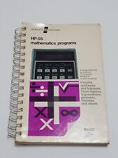 Mathematics Programs Book for use with HP-55 Hewlett Packard Calculator
