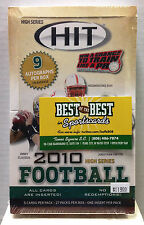 Factory Sealed 2010 Sage Hit FOOTBALL High Series HOBBY BOX Rookie 9 Autographs