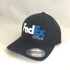FedEx Office Flexfit Hat Yupoong Custom Structured Twill Cap Dark Navy L/XL