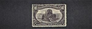 "1898 U.S.Trans-Mississippi Issue 10c Gray Vio ""Hardships"" Sc#290 M/H/OG* Note"