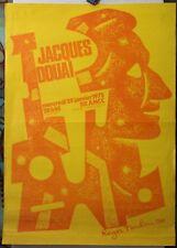 Affiche Originale ✤ Jacques Douai ✤ Illustration par ROGER TOULOUSE ✤ 1975