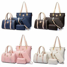 NEW Women Lady Shoulder Bag 5Pcs Leather Purse Tote Handbag Crossbody Hobo Bag