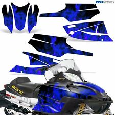 FireCat Arctic Cat Graphic Kit  F5,F6,F7 Sled Sabercat Snowmobile Wrap ICE BLUE