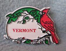 Red Cardinal Bird Vermont Rubber Magnet, Souvenir, Travel, Refrigerator