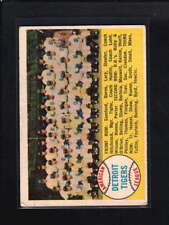 1958 TOPPS #397 DETROIT TIGERS TEAM CARD VG-EX D5439