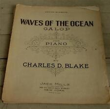 Waves Of The Ocean, Galop, Charles D. Blake, 1929 Old Sheet Music
