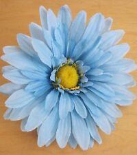 "Giant 7"" Sky Blue Gerbera Daisy Silk Flower Brooch Pin"