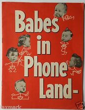 """""""Babes in Phone Land""""  Vintage 1950-60's """"Party-Line"""" Childs Photo Booklet"""