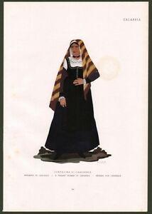 Catanzaro. Contadina di Cardinale . Costume di Emma Calderini. Anni '30 del '900