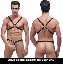 Men's Exotic Lingerie: Tear Off C-Ring Harness Set Male Power PAK-891